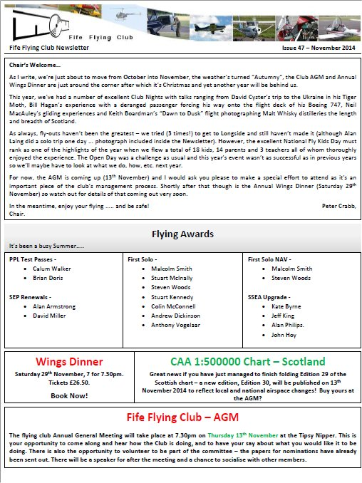Newsletter (May 2014)
